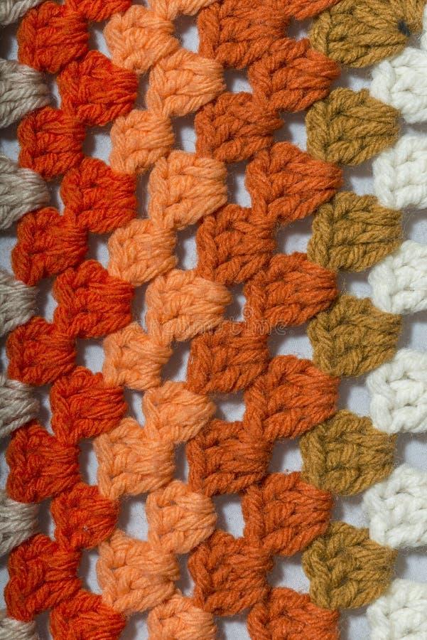 Tissu de crochet de différentes couleurs image libre de droits