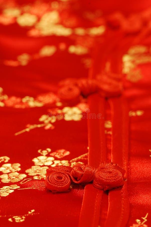 Tissu de kimono et détail de bouton photo libre de droits