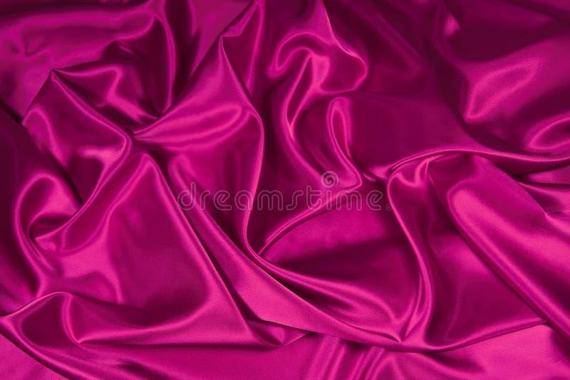 Tissu de satin/en soie rose 3 images libres de droits