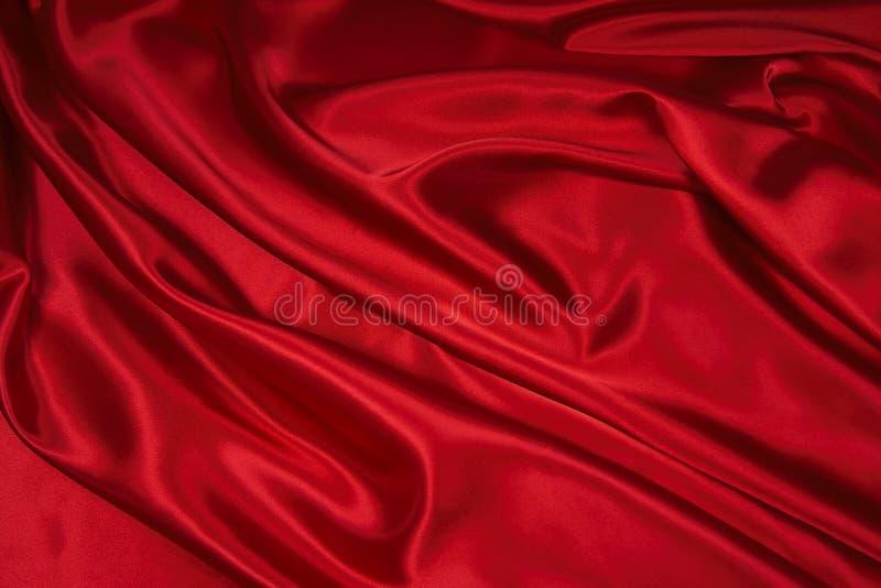 Tissu de satin/en soie rouge 1 images stock