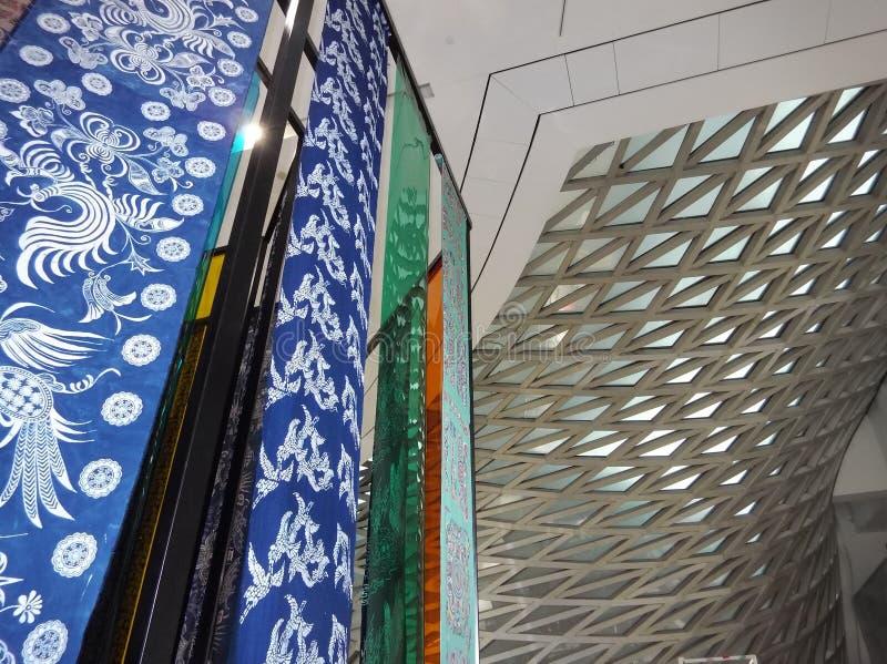 Tissu de style chinois photographie stock libre de droits