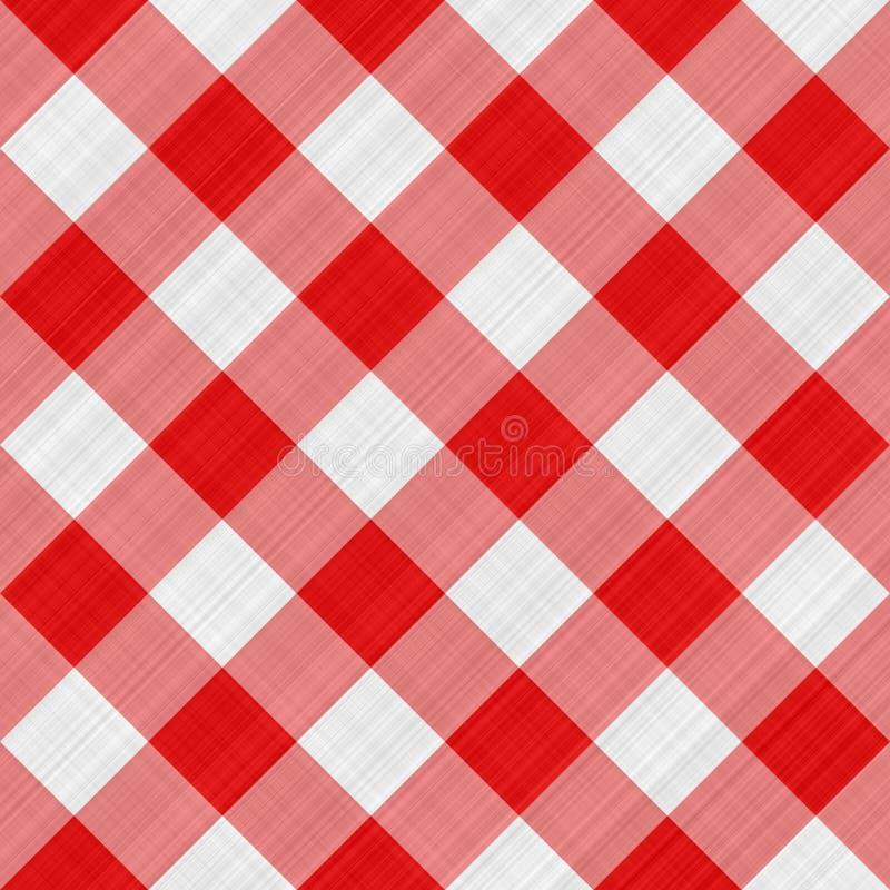 Tissu de table rouge illustration libre de droits