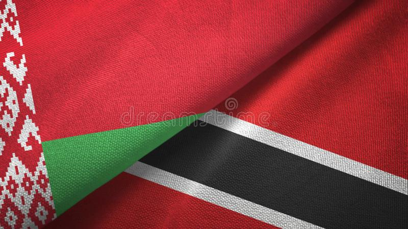 Tissu de textile de drapeaux du Belarus et du Trinidad-et-Tobago deux, texture de tissu illustration libre de droits