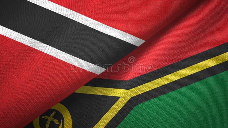 Tissu de textile de drapeaux du Trinidad-et-Tobago et du Vanuatu deux, texture de tissu illustration libre de droits