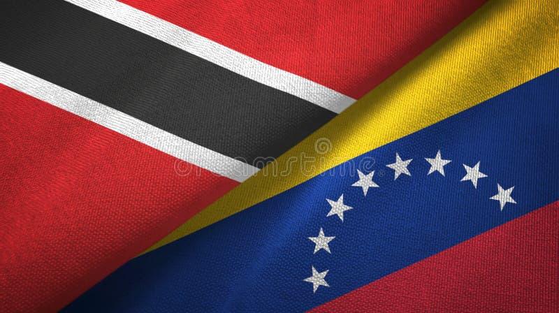 Tissu de textile de drapeaux du Trinidad-et-Tobago et du Venezuela deux, texture de tissu illustration libre de droits