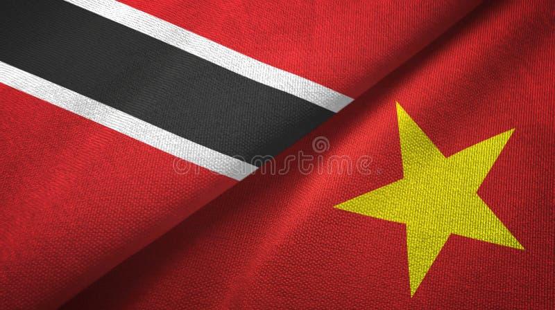 Tissu de textile de drapeaux du Trinidad-et-Tobago et du Vietnam deux, texture de tissu illustration libre de droits