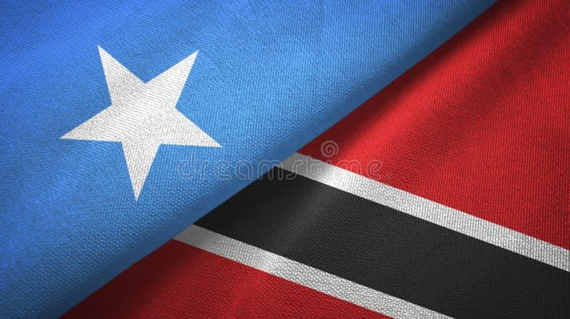 Tissu de textile de drapeaux de la Somalie et du Trinidad-et-Tobago deux, texture de tissu photos libres de droits