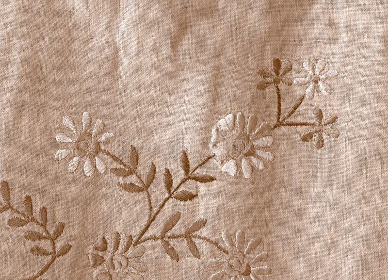 Tissu de toile avec des fleurs photo libre de droits