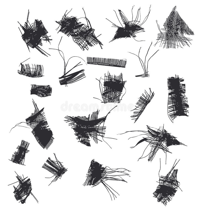Tissu effiloché illustration de vecteur