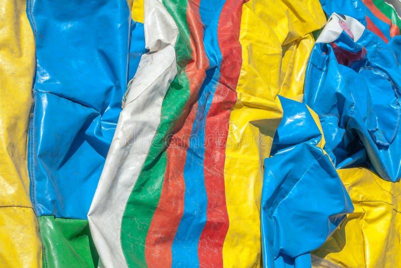 Tissu en caoutchouc coloré, fond d'image abstrait, texture image stock