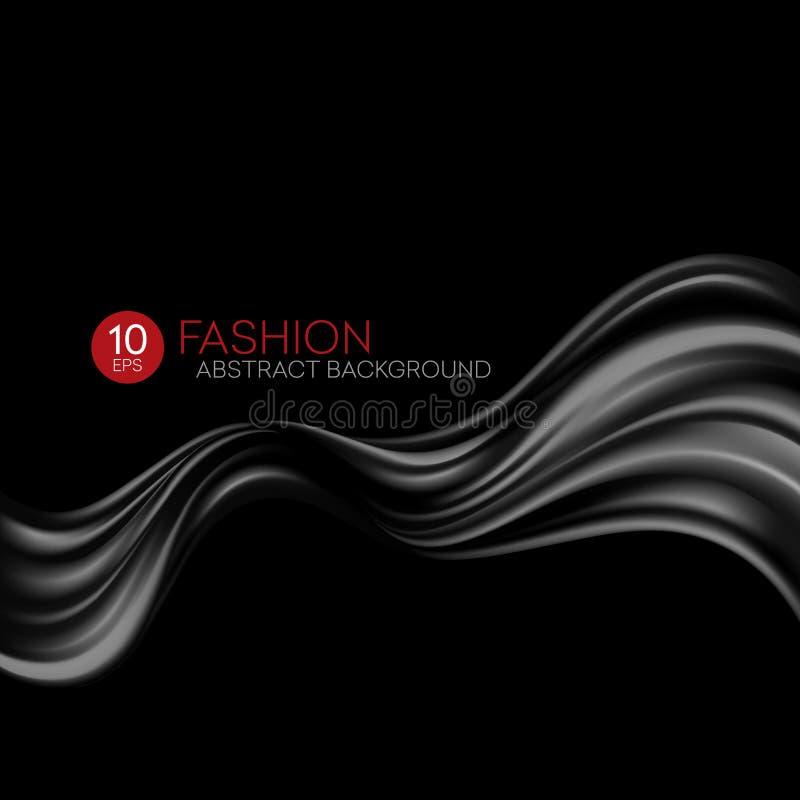 Tissu en soie de vol noir Fond de mode Illustration de vecteur illustration stock