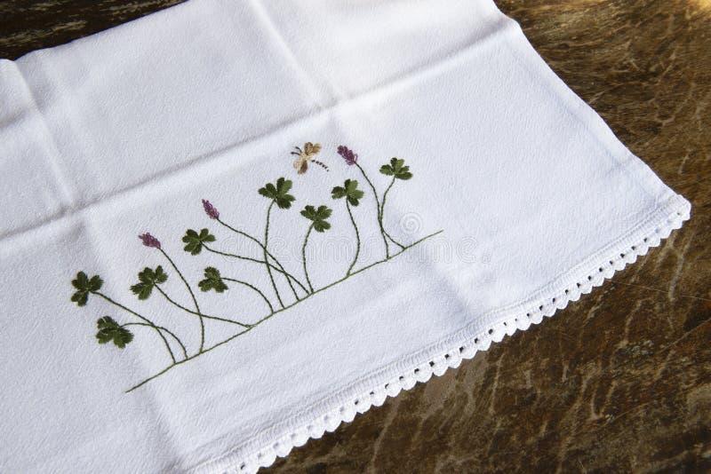 tissu fait main de plat image stock