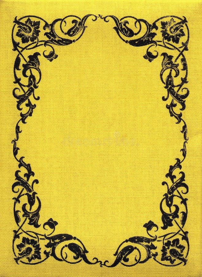 Tissu jaune XXL de cru illustration de vecteur