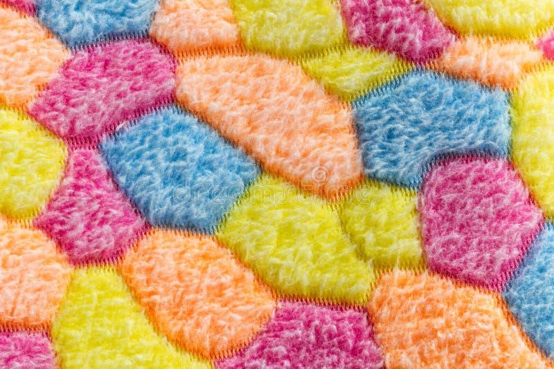 Tissu multicolore de natte images libres de droits