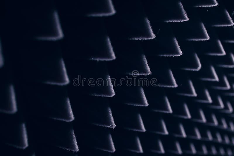 Tissu noir avec le sabot intéressant photographie stock libre de droits
