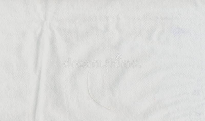 Tissu non-tissé blanc images stock