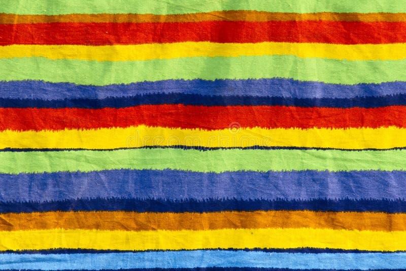 Tissu rayé de couleur image libre de droits