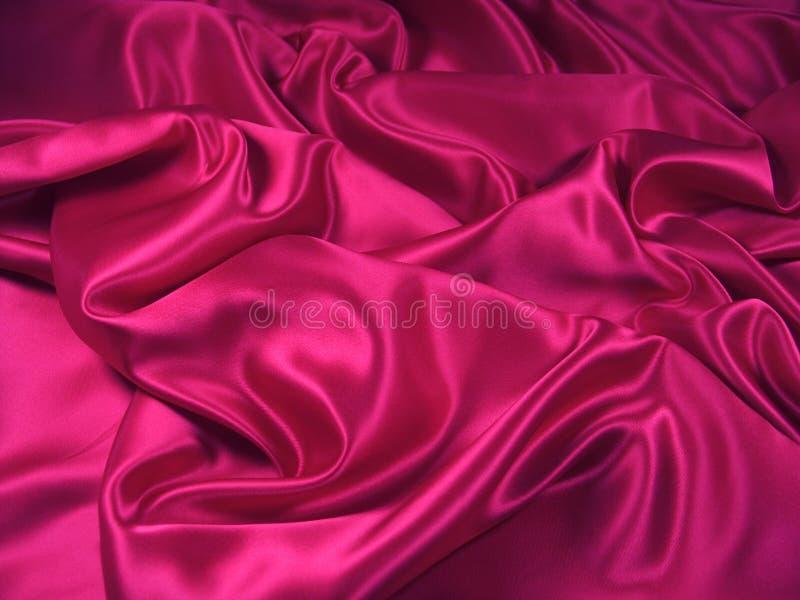 Tissu rose de satin [horizontal] photographie stock libre de droits