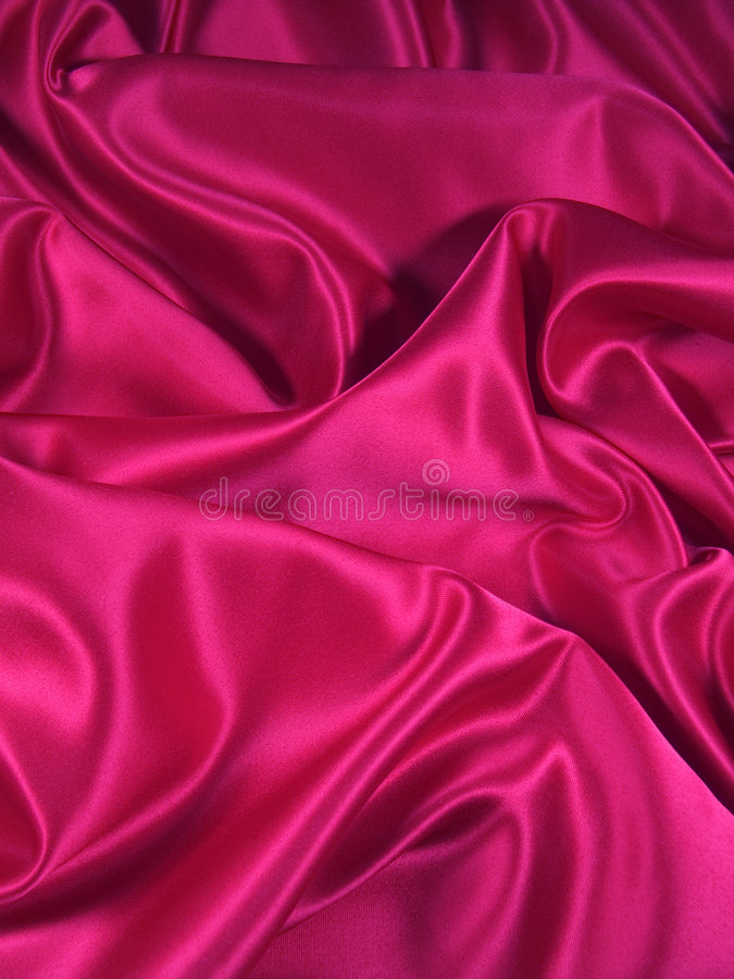 Tissu rose de satin [verticale] image libre de droits