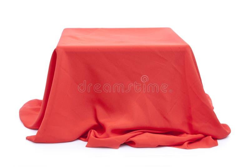 Tissu rouge photographie stock libre de droits