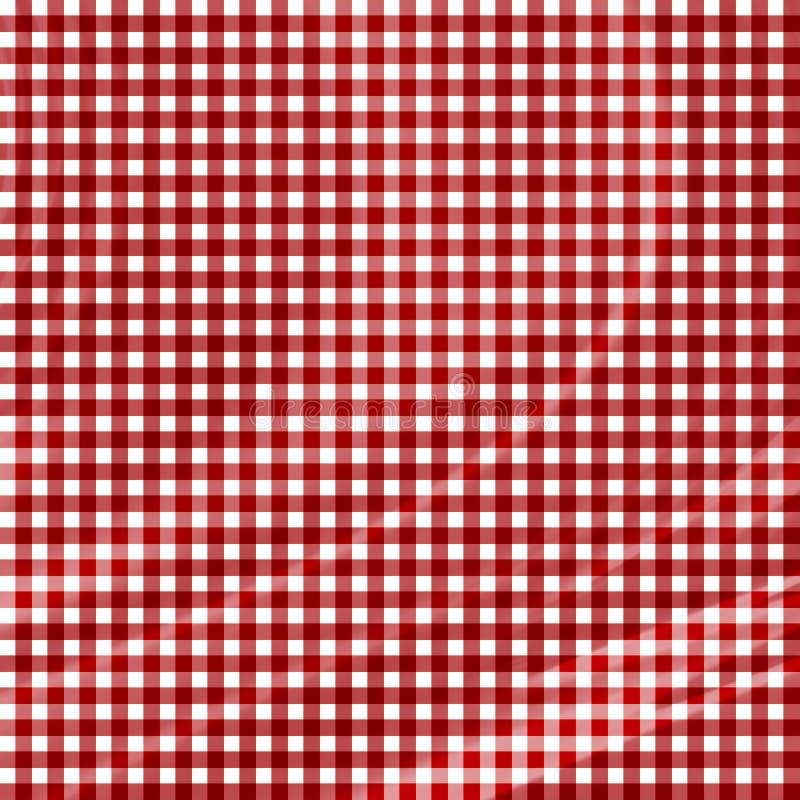 Download Tissu rouge de pique-nique illustration stock. Illustration du dîner - 8654873