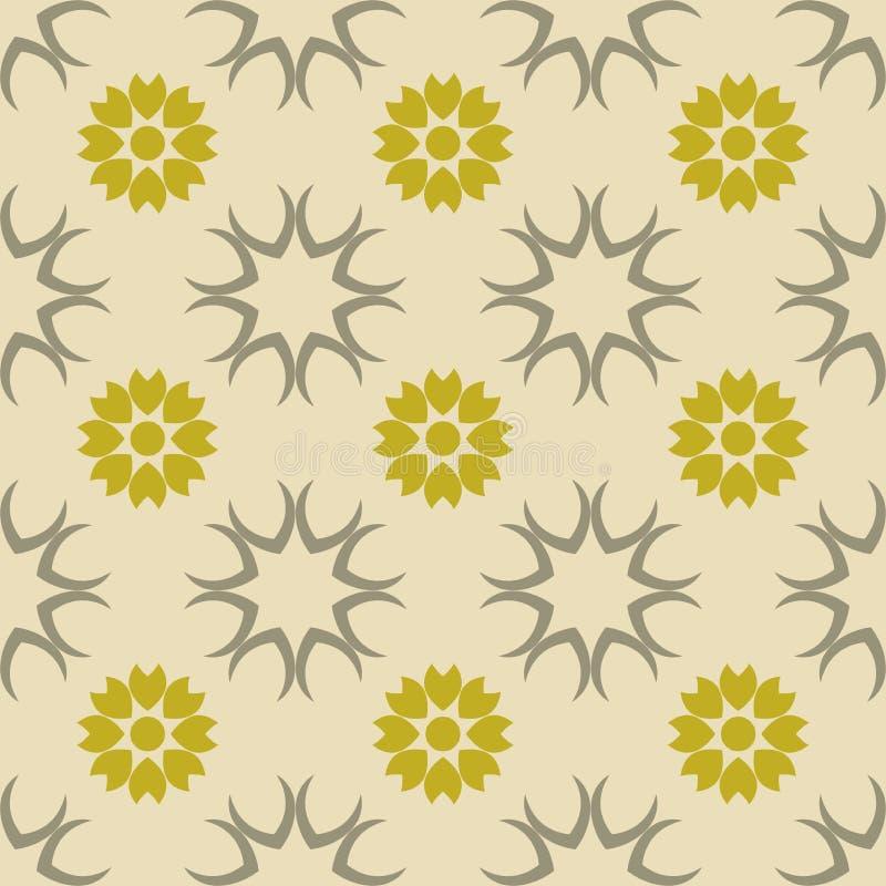 Tissu sans couture floral vert de vecteur de modèle, conceptions intérieures et papiers peints illustration stock