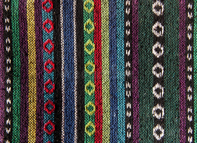 Tissu thaïlandais de tribu images stock