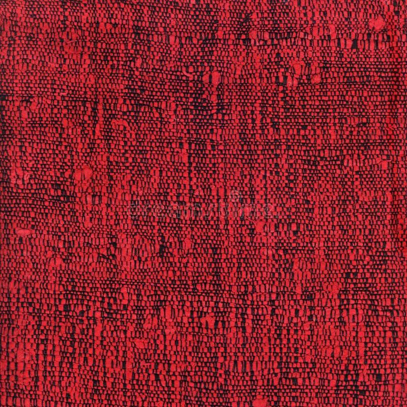 Tissu tissé rouge photos libres de droits