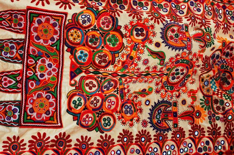 Tissu traditionnel coloré.