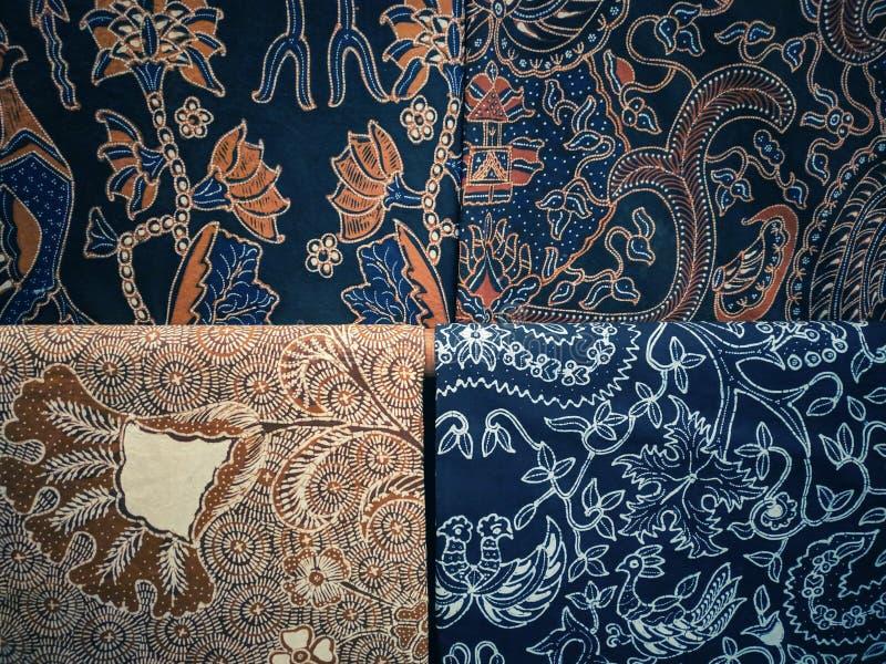 Tissu traditionnel de batik, batik Yogyakarta image libre de droits