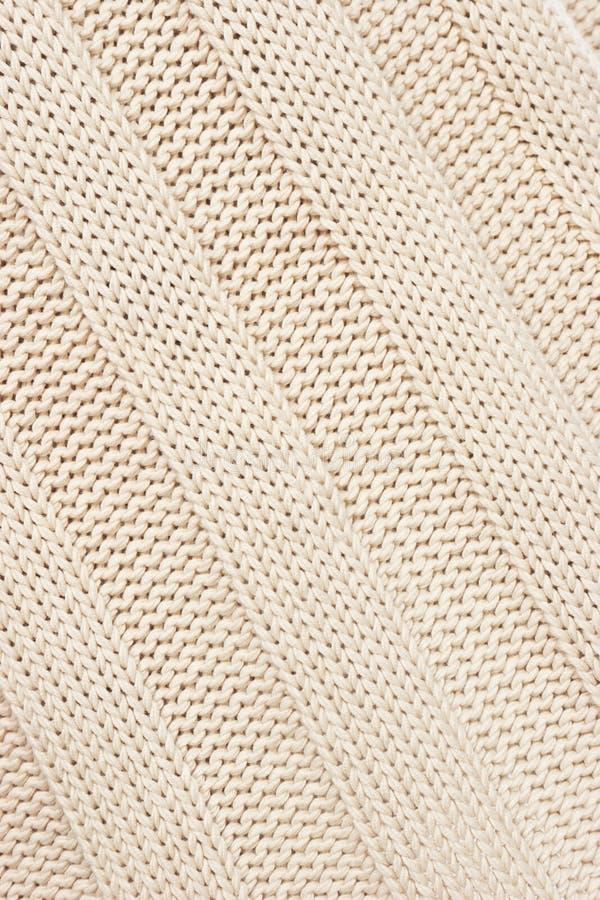 Tissu tricoté beige. photo libre de droits