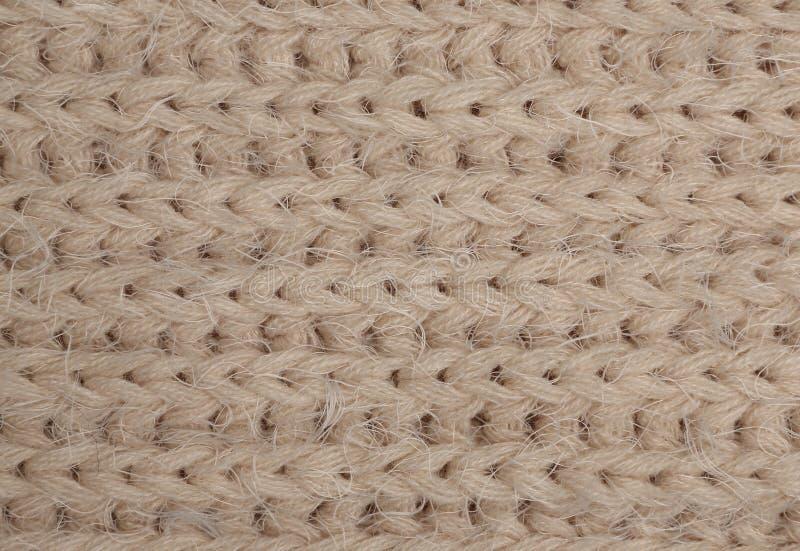 Tissu tricoté beige image stock