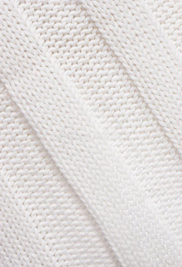 Tissu tricoté blanc. image libre de droits