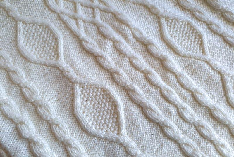 Tissu tricoté fait main images stock