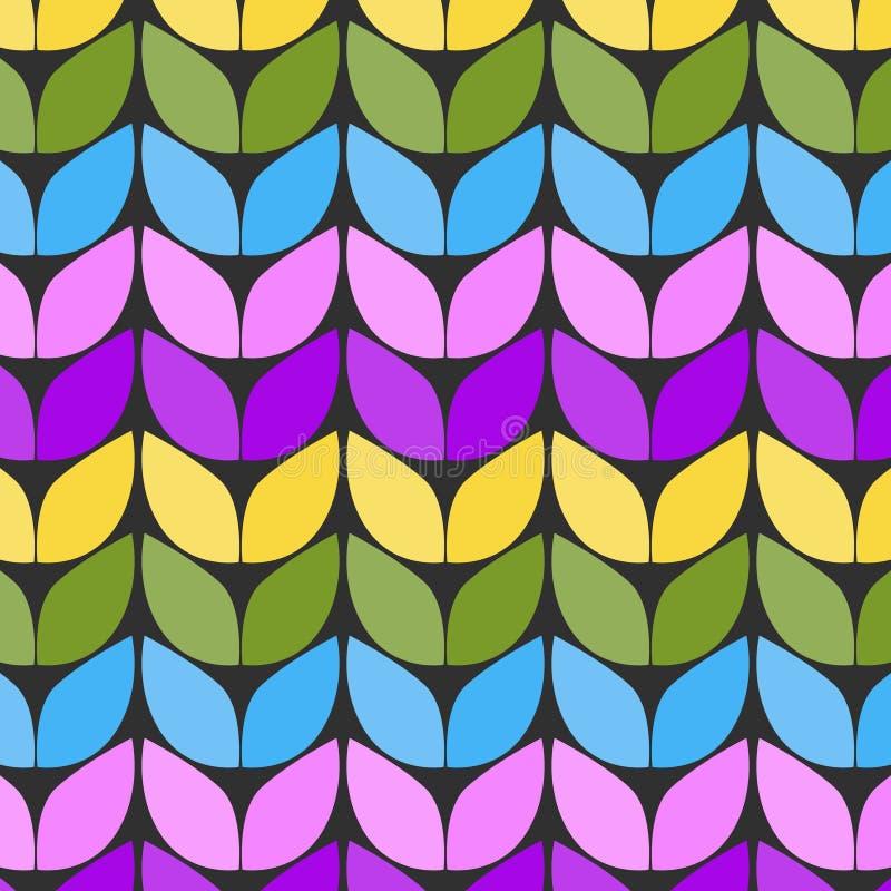 Tissu tricoté Imitation du tricotage épais Modèle sans couture sous forme de zig-zag illustration stock