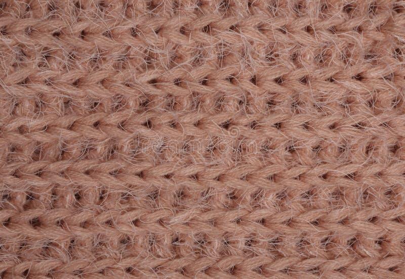Tissu tricoté par corail photographie stock libre de droits