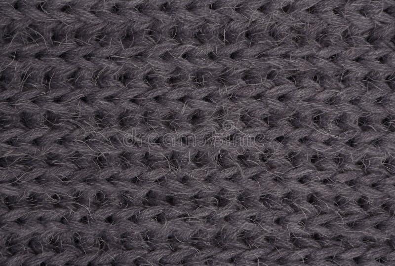 Tissu tricoté par gris photo libre de droits