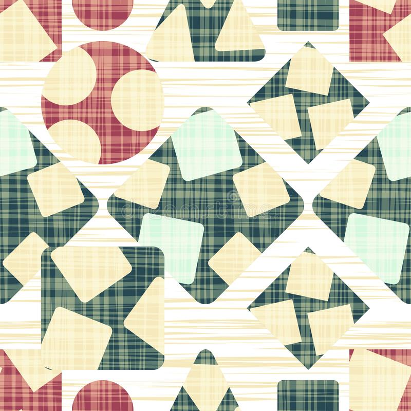 Tissue abstract print with geometric shapes. royalty free illustration