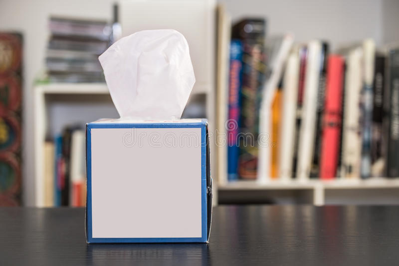 Tissue box on a table stock photography