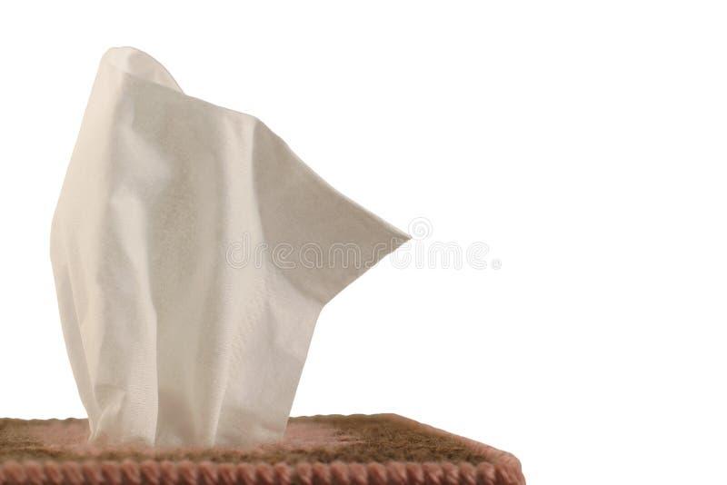 Tissue Box - white background stock photography