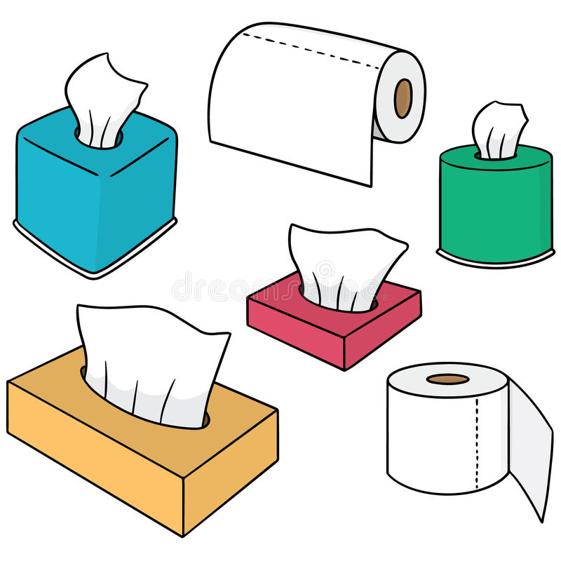 Tissue paper. Vector set of tissue paper stock illustration