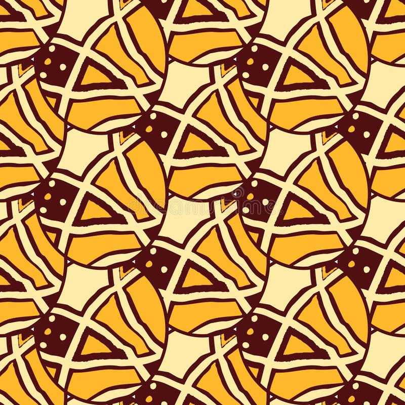 Tissus africains du Ghana, Nigéria, Afrique de l'ouest Ankara illustration stock