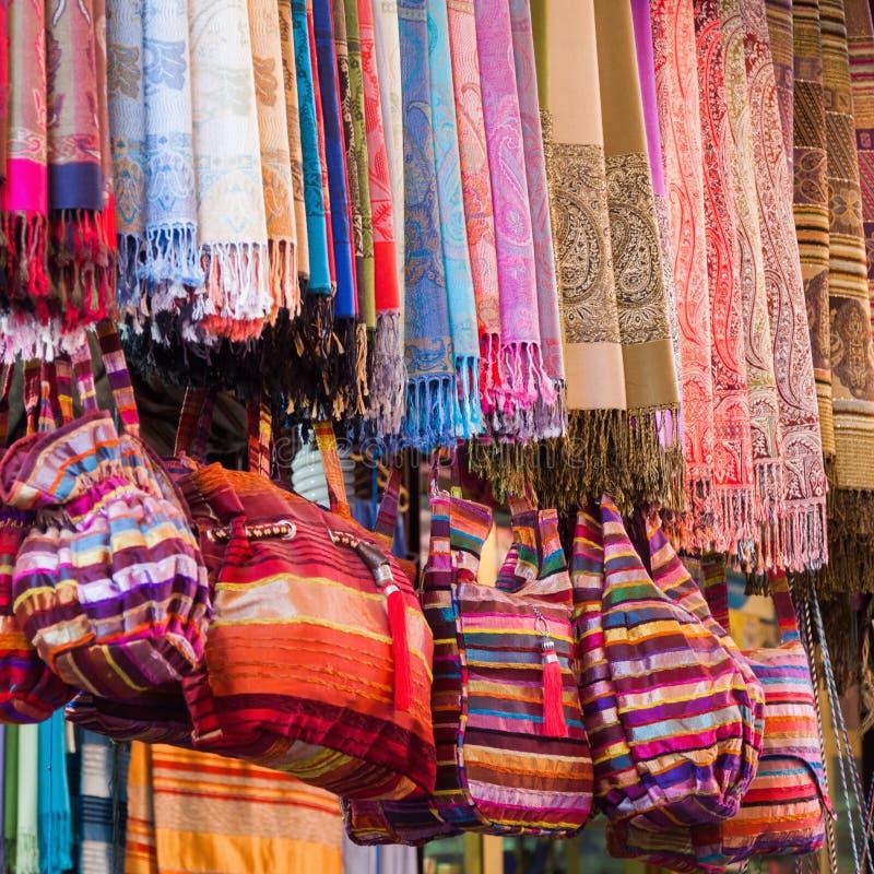 Tissus de textile de Marrakech photos libres de droits