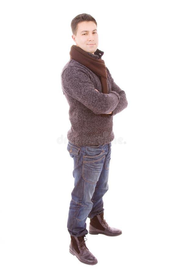 Tissus s'usants de l'hiver de jeune homme de mode image stock