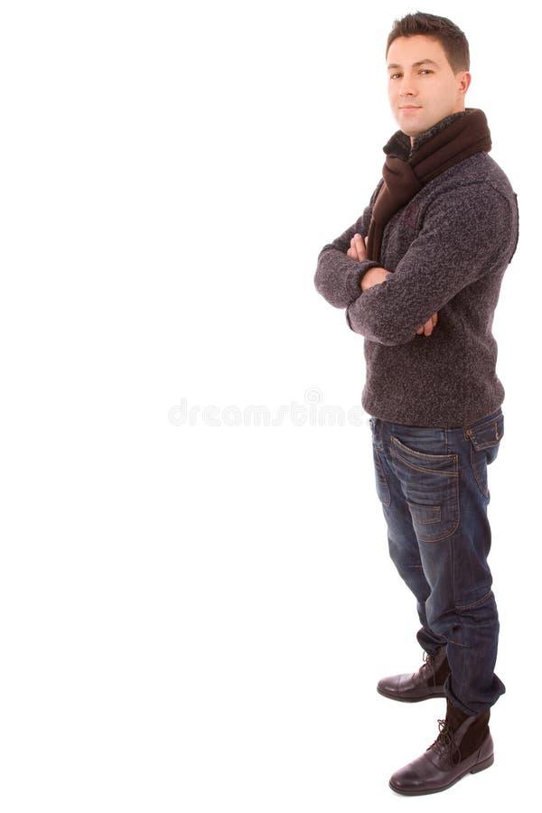 Tissus s'usants de l'hiver de jeune homme de mode images stock