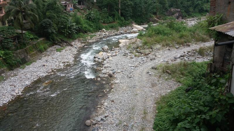 Tista River royalty-vrije stock afbeelding