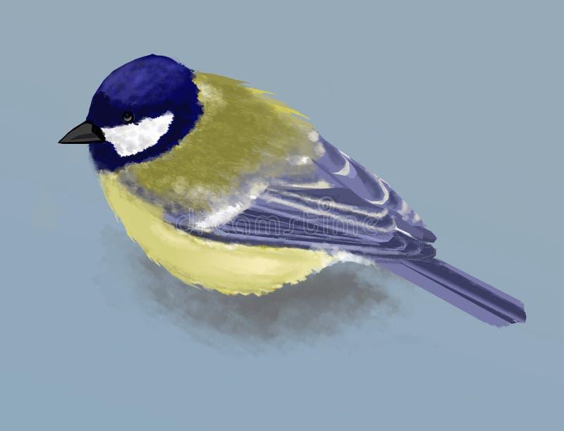 Download Tit stock illustration. Illustration of blue, nature - 87748426