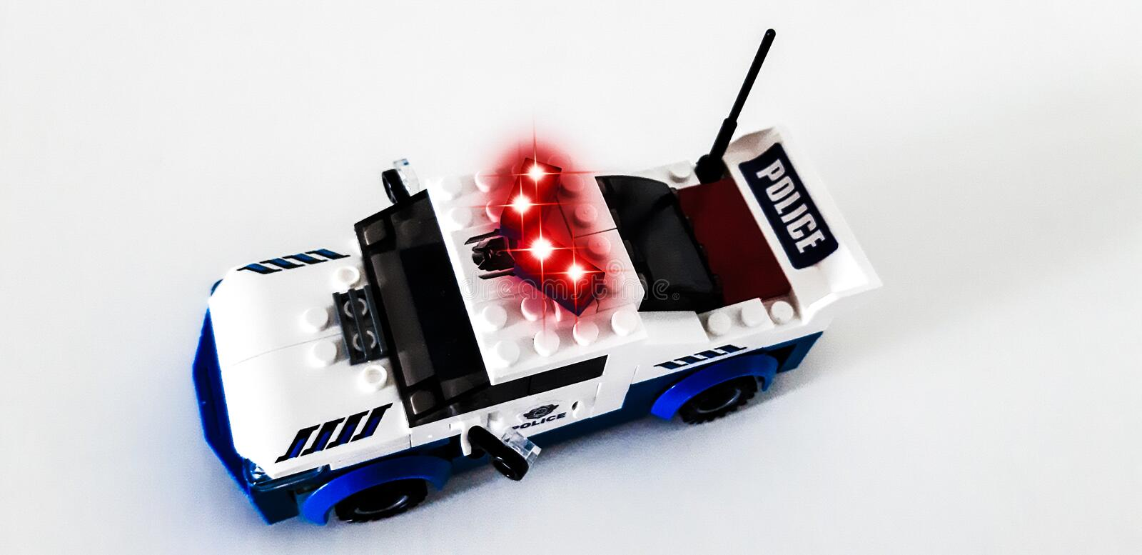 Titan form Heroes.From the details of the set, you can assemble a police robot or a police car. royalty free stock image