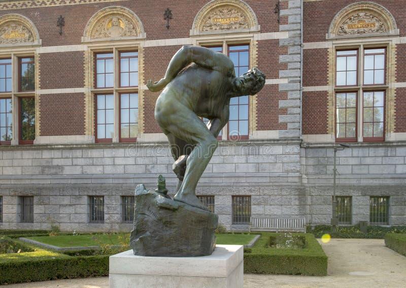 Titan par Abraham Hesselink, Rijksmuseum, Amsterdam, Pays-Bas photo libre de droits