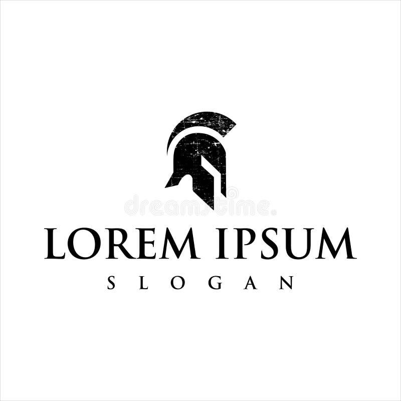 Titan Or Spartan Warrior Emblem Logo Template Stock Vector